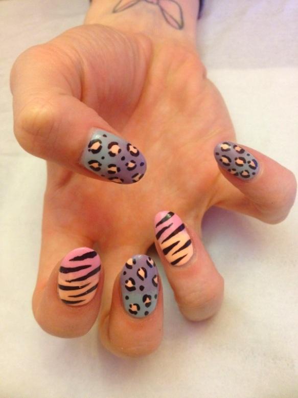 Ombre Pastel Leopard and Zebra Print