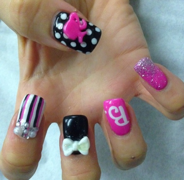 New nail art bliss hair beauty salon barbie doll mix and match prinsesfo Choice Image